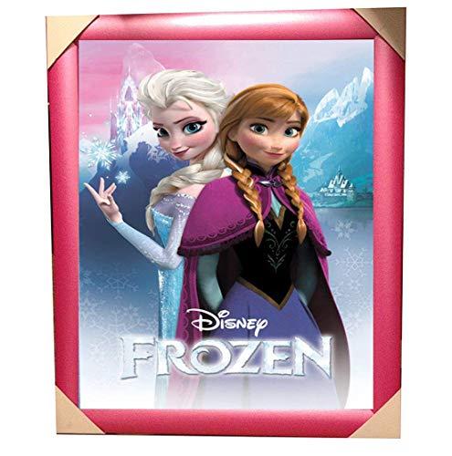 Official Disney's Frozen Anna Und Elsa Pink Gerahmt Film Poster (58 x 48 cm)