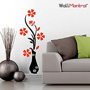 Wall Mantra 'Flower Pot' Wall Sticker (PVC Vinyl, 50 cm x 120 cm),Multicolor
