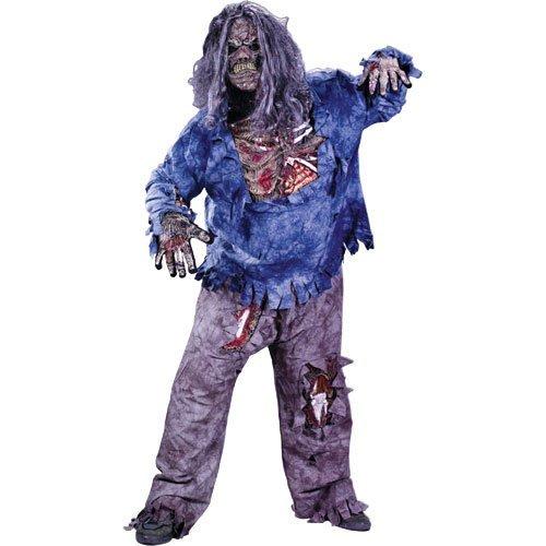 Unbekannt Zombie Halloween Kinderkostüm Gr. 140-152
