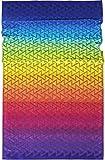 Lashuma Strandtuch Lagos   buntes Velours Badetuch   Liegehandtuch   Strandhandtuch in Regenbogenfarben   100 x 180 cm