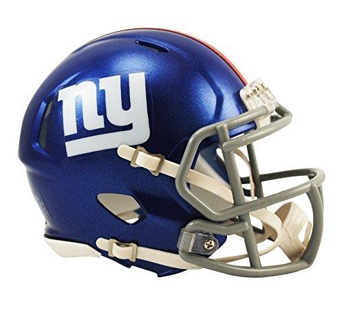 NFL Fan Set Aufkleber und Riddell mini Speed Helm (NEW YORK GIANTS) (Helm Riddell)