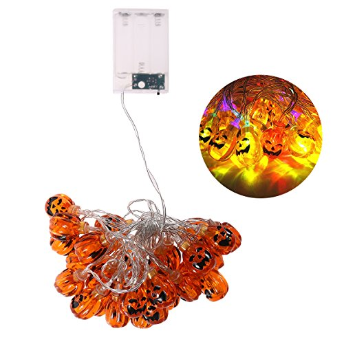 LEDMOMO Batteriebetriebene LED Fairy Led String Lights Outdoor 30LED Kürbis Ghost Lights Halloween Lichter Weihnachtsdekoration Lights (Multi Farben)
