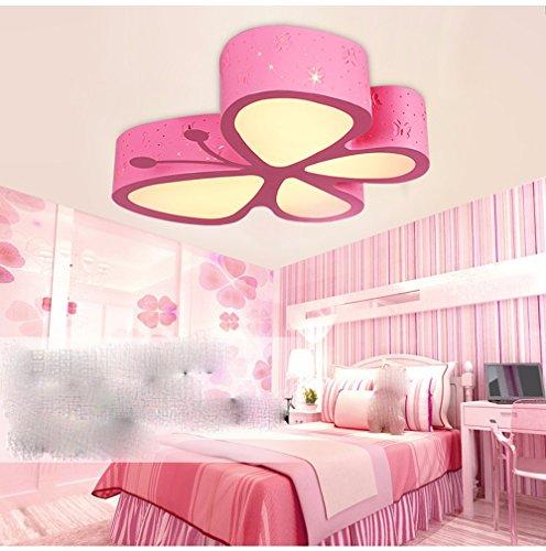 LighSCH Kinder Zimmer LED Deckenleuchte Zimmer Cartoon Lampen Schmetterling 48W Elektroden Dimmen 50 * 50 * 10cm -