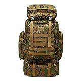 AHWZ 80L Oxford Sac À Dos Camouflage Extérieur Sac À Dos Voyage d'alpinisme Sacs Tactiques Sac À Dos Militaire Assault Sac À Dos,Green