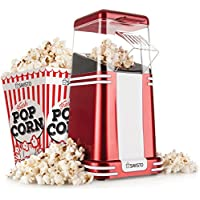 Savisto Vintage Retro Hot Air Popcorn Maker with 6 Popcorn Boxes