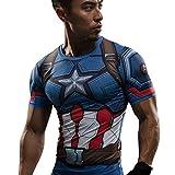 Captain America CA Sublimated civil war Logo Marvel Comics - T-Shirt, GR.M