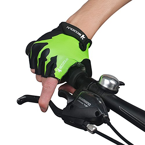Fahrradhandschuhe Halbfinger Herren Damen Fitness Handschuhe Atmungsaktiv Rutschfestes Gepolstert Sommer Handschuhe