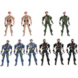 Phenovo 10pcs Plastic Army Set Toy 9cm Special Force Action Figure Army Soldiers