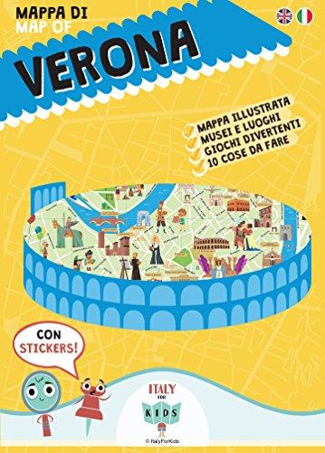 Mappa di Verona illustrata. Con adesivi