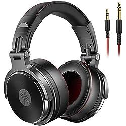 Casque DJ Fermé, OneOdio Casque Audio HiFi Casque Audio Studio Professionnel, Casque de Monitoring, Casque Filaire avec Les Haute-Parleurs en Néodyme de 50 mm