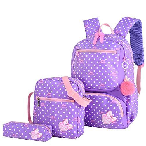 Househome Canvas Rucksack, wasserdicht bedruckter Schulrucksack für Mädchen, dreiteiliger Rucksack, Rucksack mit großer Kapazität Lässige Schultertasche für Studenten