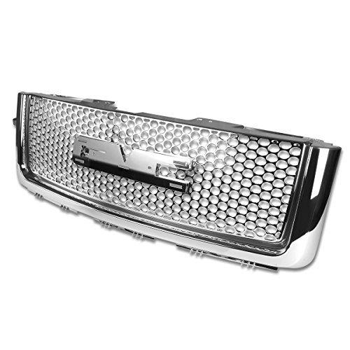 gmc-sierra-denali-abs-plastic-round-mesh-front-bumper-grille-chrome-2nd-gen-gmt900-902-by-auto-dynas