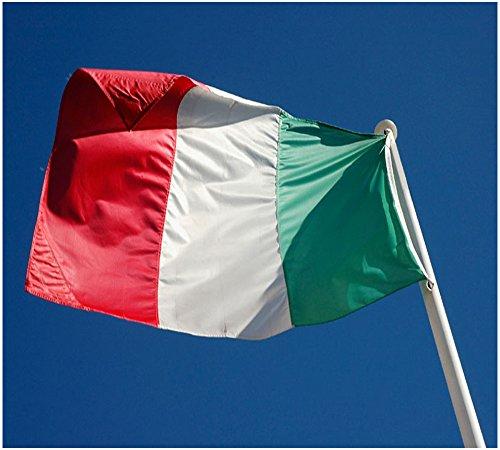 Hemore Bandiera del Italia 5 * 3ft / 150 * 90cm Bandiera in Poliestere Ideale per Esterni e Interni Grande Bandiera Italia