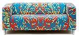 Artefly Klippan Sofabezug Design LINE mit Kissen Bezug passend für Ikea Klippan Zweisitzer