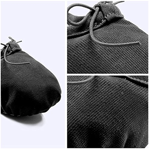 Zhhlaixing Dance Flat Girls Comfortable Canvas Yoga Shoes Black Gymnastic Ballet TrxTfwtgq