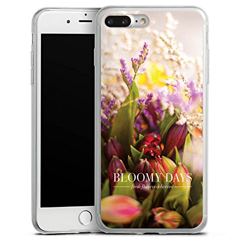 Apple iPhone X Slim Case Silikon Hülle Schutzhülle Wiese Tulpen Blumen Silikon Slim Case transparent