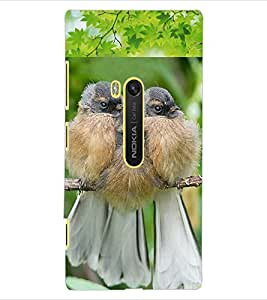 ColourCraft Cute Birds Design Back Case Cover for NOKIA LUMIA 920