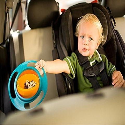 Bébé D'allaitement alimentation Vaisselle Vaisselle enfant Kid antidéversement Nourriture Gyro Gamelle Plat à 360° Rotation Couvercle