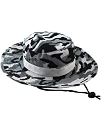 Yesmile Sombrero Gorra Ajustable Camuflaje Boonie Sombreros Gorra Nepalesa  Sombrero de Pescador Militar Para Hombre ( 62b2d40d490
