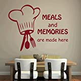 DreamKraft Meals And Memories Wall Sticker For Kids Room |Living Room|Bedroom|Office PVC Vinyl Art Decals(27X20 Inch)