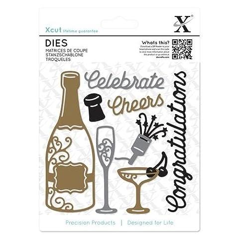Xcut Dies 10/Pkg-Champagne Celebration (Effect Champagne)
