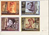 WOMEN IN JOURNALISM ~ NELLY BLY ~ IDA M TARBELL ~ ETHEL L PAYNE ~ MARGUERITE HIGGINS #3668a Plate Block of 4 x 37?US Postage Stamps by US Postage Stamps