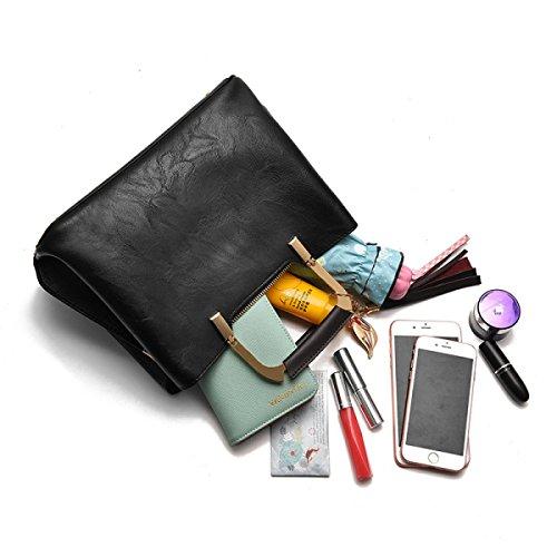 Borse A Tracolla Donna ZPFME Moda Retro Borsa A Tracolla Autunno E Inverno Borsa Da Donna Festa Shopper Grey