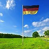 BGF Fahnenmast aus Stahl 6,50 m Fahnenmast Fahnenstange Flaggenstange Fahne