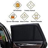 Voker Sonnenschutz Auto Kinder Baby, UV Schutz Sonnenrollo Autofenster für Kinder Baby Erwachsene Haustiere, Tragbare Auto Sonnenblende Reduzierung von Sonneneinstrahlung (2 PCS, M:100 * 52CM)