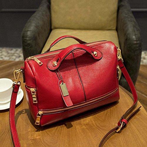 Xjp Damen Modische Umhängetasche Crossbody Tasche Rot