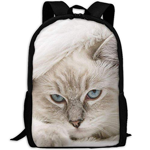 TRFashion Cute Kitty in Quilt Unisex Custom Backpack School Leisure Sports Book Bags Durable Oxford College Laptop Computer Shoulder Bags Lightweight Travel Daypacks Rucksack (Kitty Mini-rucksack)