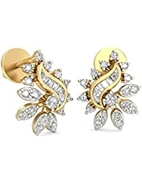 PC Jeweller The Anne-Claire 18KT Yellow Gold & Diamond Earring