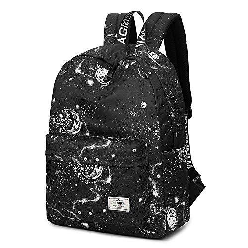 YHEGV Schulrucksack für Mädchen Süße Schultasche Laptop Rucksack Teens Bookbag Wasserdicht Leichter Reisetaschenrucksack