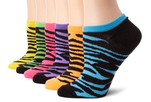 K. Bell Socks Women's 6-Pack No Show Zebra Socks