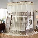 Cuadrado malla cortinas,Lazo red cortinas,Literas litera camas de la red Pabellón de la cama escalera Cama de cucheta del estudiante una mallas mosquiteros-N Twinch1