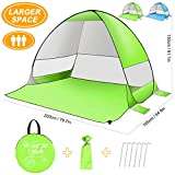 SLB Pop up Tent Large Pop up Beach Tent,Automatic Sun Shelter with Water-resistant