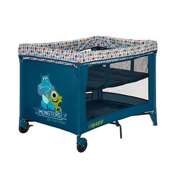 Obaby Disney Travel Cot and Bassinette (Monsters Inc) Obaby High quality bassinette, suitable from birth Quick and easy to assemble Compact fold with storage bag & carry handle 1