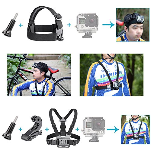Kit de Accesorios para GoPro 7/6/5/4/3+/3/2/1 SJ4000/5000/6000