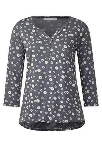 CECIL Damen 3/4-Arm Printshirt Annika dark silver (silber)