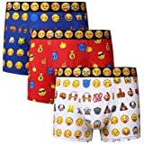 Bahob® Boxer da Uomo Emoji Boxer Boxer Boxer Shorts Cotone Biancheria Intima 3 Paia S-XL