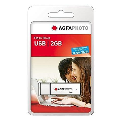 AgfaPhoto 2GB Speicherstick USB 2.0 silber
