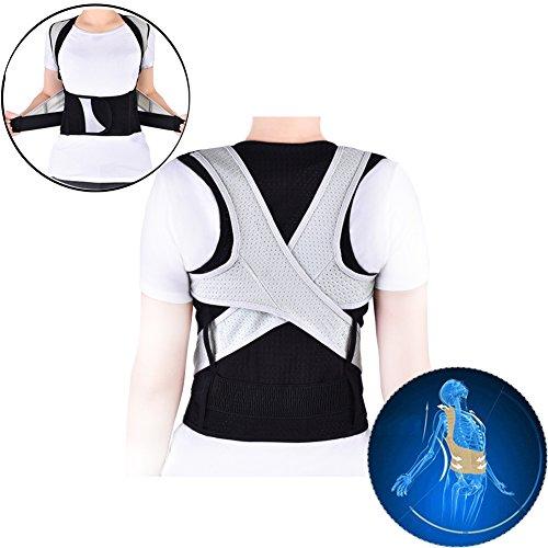 Haltungskorrektur Geradehalter Ultradünn Atmungsaktiv Superelastisch Rückenbandage zur Schulter Rücken Taille für 8-20 Kinder und Jugendlichen (Höhe für 180cm-185cm) (XXXL)