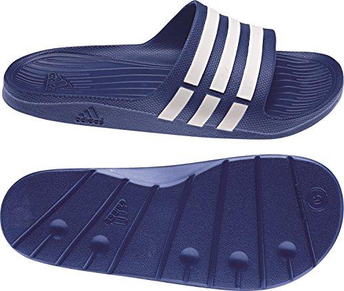 adidas Duramo Slide Unisexe-Adultes Douche Et Chaussures De Bain G14309 Bleu - Blanc