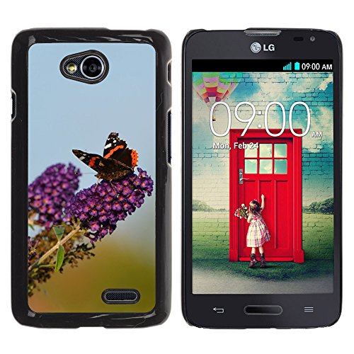 Nur Handy HOT Style Handy PC Hard Case Cover//m00138965 Schmetterling Sommer Lila Natur Insekten//LG Optimus L70 MS323 (Lg Optimus L70 Case Lila)