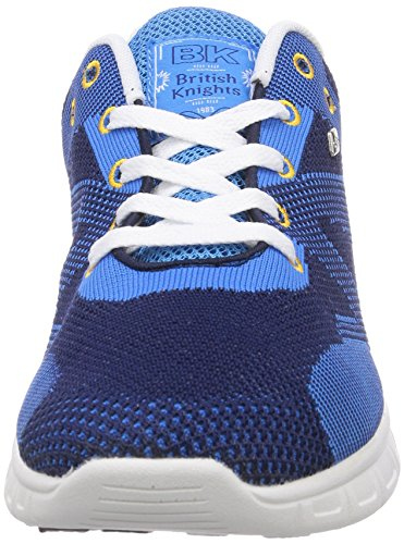 British Knights DEMON, Low-Top Sneaker uomo Blu (Navy/Blue/Yellow 24)