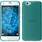 PhoneNatic Coque pour HTC One A9S Silicone Turquoise Transparent Cover Étui One A9S Étui de Protection