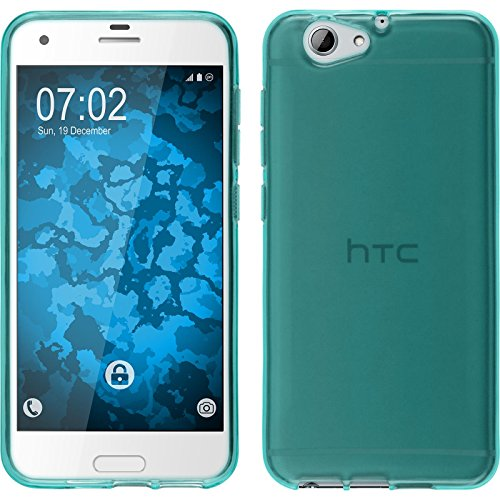 PhoneNatic Case für HTC One A9s Hülle Silikon türkis transparent Cover One A9s Tasche Case