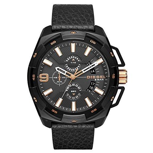 Diesel Herren Multi Zifferblatt Quarz Uhr mit Leder Armband DZ4419 - Diesel Herren Sale Uhren
