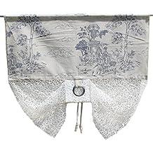 Cortina visillo Bistro cortina rústico Shabby Chic Vintage 60largo Alto, viscosa, champán, 120 x 60 cm