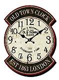 Orologio in legno da parete ovale London vintage inglese stazione